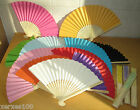 1 x Chinese paper & wood decorative hand fan - for costumes or craft