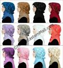 Salma 2 piece Hijab set Square Chiffon Scarf & Lace cap Pullover easy to wear