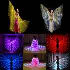 free ship USA LED isis wings belly dance light up show cosplay prop+sticks