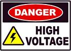 Home Decor Clearance Items DANGER HIGH VOLTAGE DECAL SAFETY SIGN OSHA ELECTRICAL ELECTRICIAN  Romantika Home Decor Paka