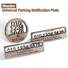 Universal Wooden Parking Notification Telephone Number Plate for All Vehical