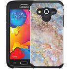 Marble Design Hybrid Case Dual Protective Cover for Samsung Galaxy Avant G386T