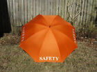 Golf Umbrella Safety Orange Red White Black Yellow 68 in Wedding Crossing Guard