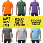 PROCLUB PRO CLUB MEN'S PLAIN SHORT SLEEVE T SHIRT COMFORT CASUAL COTTON TEE image