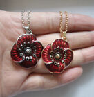 Equilibrium Red Poppy Flowers Necklaces Pendants Jewellery HOPE PEACE 3Colors