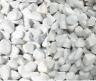 WHITE MARBLE Decorative Stones Pebbles Chippings Aggregate GARDEN Gravel Outdoor
