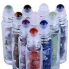 10pcs Clear Glass Essential Oil Gemstone Roller Balls Bottles 10ml Empty