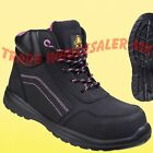 Safety Trainer Boots Ladies Safety Amblers AS601 Composite Toecap (Lydia style)