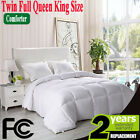 White Comforter Down Alternative Comforter Stitched Set Twin Queen King Size