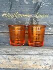 Yankee Candle Glass Tea light Or Mini Candle Holder, In 2 Shades Of Orange