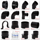 Polypipe 50mm Solvent Weld Waste Pipe Fittings in Black