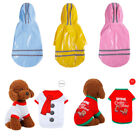 USStock Small Dog Pet Clothing Rain Coat Waterproof Jacket Hooded Jumper Clothes