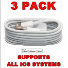 3 Pack Lightning Sync & Charger USB Data Cable For Apple iPhone 6 7 X iPad Air
