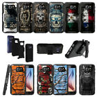 For Samsung Galaxy S7 G930 Shockproof Dual Layer Clip Case Stand - Tough Designs