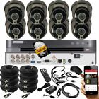 Home Security kit 8 Channel HikVision DVR  Fix Lens ProLux Camera in/outdoor uk