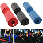 Foam Padded Barbell Bar Cover Pad Weight Lifting Shoulder Back Support UK