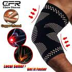 Magnetic Elbow Compression Sleeves Copper Infused Arm Support Brace Pain Relief