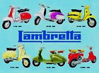 RETRO METAL PLAQUE : Lambretta 1948 - 1970 Metal sign/ad