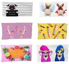 Abstract Mix 3D Digital Dogs Theme Photo Print Fleece Beach-Bath Towels
