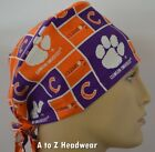 Clemson Tigers NCAA College Team Collection Unisex Surgical Scrub Hat Cap