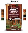 Barrettine WOOD PROTECTIVE TREATMENT for Sheds & Fences 5 Litre (5L) ALL COLOURS for sale  Cirencester