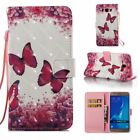 3D Image PU Leather Wallet Case Flip Cover Card Pocket for Phone Girlfriend gift