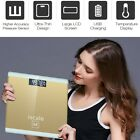 Loskii USB Charge Digital Body Weight Electronic LCD Bathroom Scale Temperature
