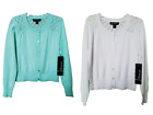 NWT - GEORGE - GIRL'S LS POINTELLE SWEATER CARDIGAN