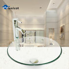 Round/Oval Bathroom Tempered Glass Basin Set Vessel Vanity Sink Bowl With Faucet