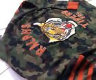 Polo Ralph Lauren Men Military Army Camo Tigers Letterman Knit Sweater Cardigan