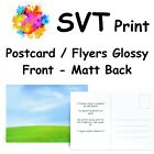 Printed Glossy Postcard Flyers Leaflets Printing Matt Back for Writing Two Sizes