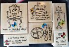 Stampin' Up - RETIRED Wood Mount Stamp Sets - NEW & Used READ NOTES - FREE ship