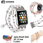 for Apple Watch band,Women Girls iWatch Pearl Beads Strap Br