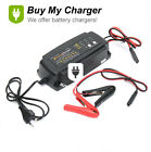 7-Stage 12V 2A/4A/8A Smart Car Battery Charger Maintainer&Desulfator Waterproof