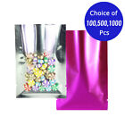 3x4.75in Shiny Clear Front Matte Rose Back Foil Mylar Open Top Pouch Bag R04