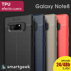 FUNDA TPU Gel para SAMSUNG NOTE 8  note8 efecto cuero RUGGED color leather case