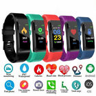 Bluetooth Smart Watch Bracelet Fitness Tracker Step+HeartRate For iPhone Samsung