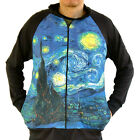 Vincent Van Gogh Starry Night Sky Sweater Track Jacket Shirt Men Fine Art Print