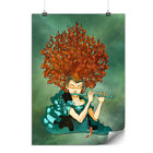 Curly Hair Girl Fashion Matte/Glossy Poster | Wellcoda