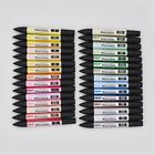 Art Graphic Drawing Twin Tip Brush Sketch Water Color Marker Pen 33 Colors