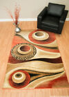 Rug Legend Modern High Quality Hand Carved Area Rug 8x11 Carpet 1504 Terracotta