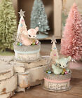 Bethany Lowe Christmas Pastel Deer On Box New 2018 TL7832 You Pick