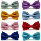 MENS, BIG KIDS, RED, BLACK,  READY TIED BOW TIE 11yrs - ADULT UK SELLER FAST