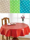 Polka Dot Wipe Clean PVC Coated Table Cloths Ideal For Outdoor & Kitchen Dining