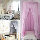 Baby Kids Cotton Canopy Bedcover Mosquito Net Bedding Dome Tent Bedroom Decor