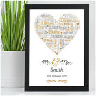 1st Wedding Anniversary Gift PAPER One Year As Mr&Mrs Personalised Couples Gifts