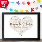 1st Wedding Personalised Anniversary Gifts 1st Wedding Anniversary Paper Gifts