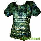 CLAUDE MONET Japanese Bridge Water Lilies Pond T SHIRT FINE ART PRINT PAINTING