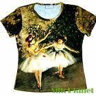 EDGAR DEGAS 2 Two Dancers Ballerina BALLET T SHIRT TOP FINE ART PRINT PAINTING