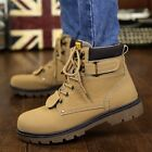 Winter Mens Pu Leather Outdoor Boots Warm Work Shoes Boys Solid Martin Boots